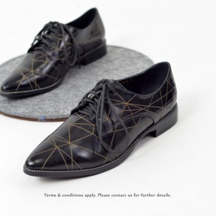 Striatum loafer | Handmade | Black Leather | RS6020A