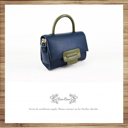 Pure hand-dyed hand-sewn vegetable tanned leather ladies shoulder bag