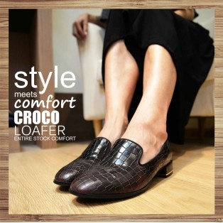 Clear display of personality minimalist personality leather shoes / Deep Morning Red / RS3010B
