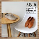 Camel _ Toffee Oxford Shoes / Lacing Style / Leather Flat Women's Casual Shoes / RS3071B