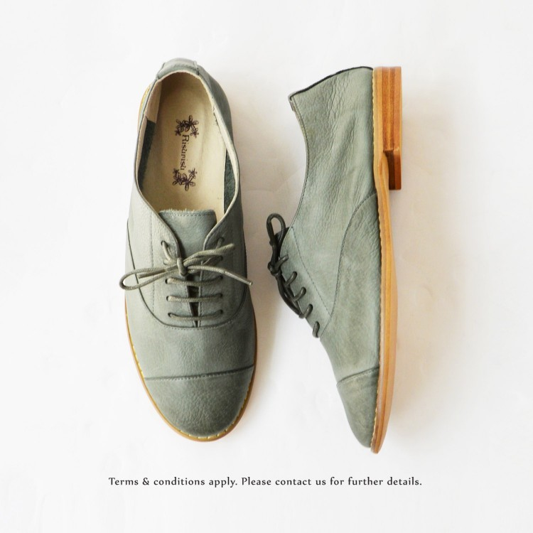 Charcoal _ Oxford Shoes / Lacing Style