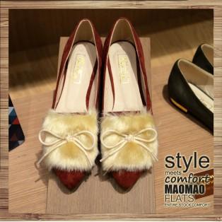 Mao Mao Flats | Crimson with White fur | RS3526C