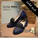Lady Classic Black loafer / Blue / RS3608B