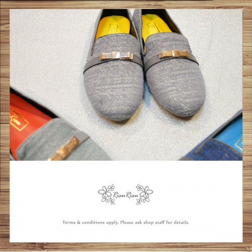 [Paris Street] Two-Color Canvas / Heaakuse Shoes / Gold Color Butterfly Design / RS3821A