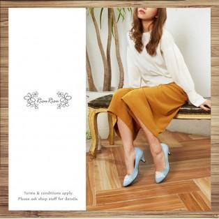 Fluffy Sense - Fine Velvet Flu Pointed Low Heel Shoes / RS3825C