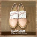 Lace-up tassel casual shoes with (Pink) Leather insole   RS3837C