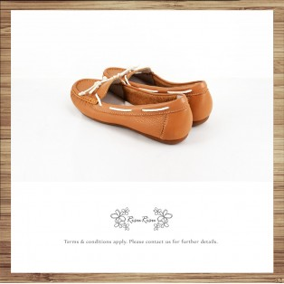 Peas Shoes / Washed Leather / Beautiful Holiday / Light Brown / Upgrade Peas Shoes / RS3841C
