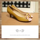 Ribbon open toe wedding shoes high heels RS3911B