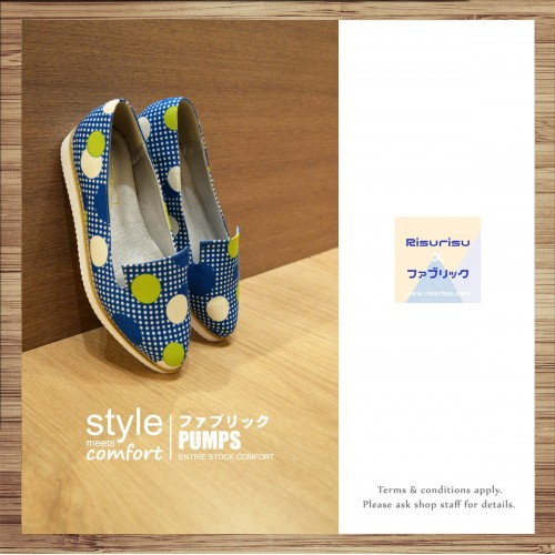 Point line women's shoes / Handmade custom / Japanese fabric / RS3982A