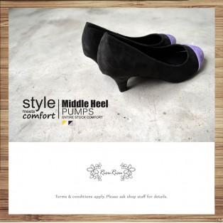 Covered Painted Color /  Low-Heeled Elastic Heel / Handmade / RS3985B