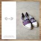 Waves women's shoes / Handmade custom / Japanese fabric / RS3996A