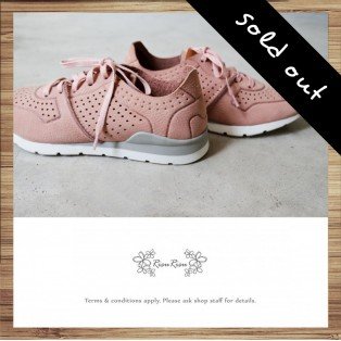 Sneakers / Leather / Retro handmade leather / Pink color / RS4000C