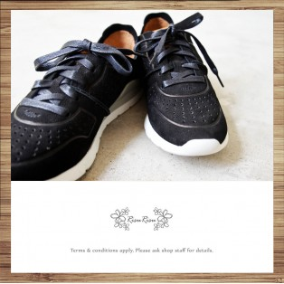 Sneakers / Leather / Retro handmade leather / Black color / RS4000B