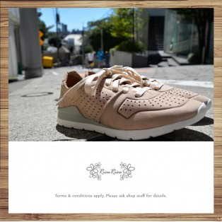 Sneakers / Leather / Retro handmade leather / Beige color / RS4000A