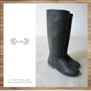 Japanese like-it | Black | Leather long boots  | RS4009A