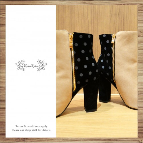 Comfortable Casual Boots / Winter Wihte Dot  / Japan Style / RS4010A