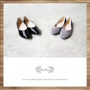 Slightly Exposed Toe Seam / Pointed Flat Shoes / Bicolor / RS4011A