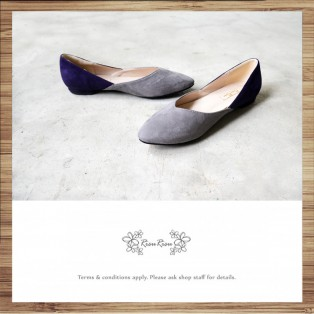 Slightly Exposed Toe Seam / Pointed Flat Shoes / Bicolor / RS4011B