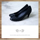 Striped Double / Patent Leather+Suede Leather mixed / Black Heels / RS4012A