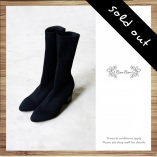 Woven / Elastic / Ankle Boots / Black / RS5022B