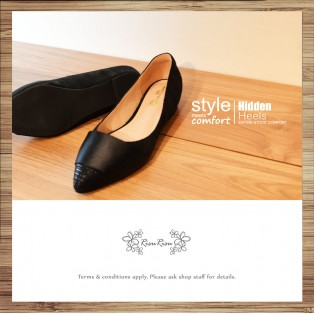 Cladding / decorative / minimalist leather shoes / Black / RS5027A