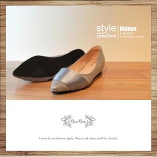 Cladding / decorative / minimalist leather shoes / Sliver / RS5027C