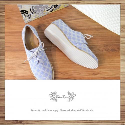 Risurisu / Blueberry Purple / Plain Toe Blucher / Handmade / Japanese Fabric / RS5066A