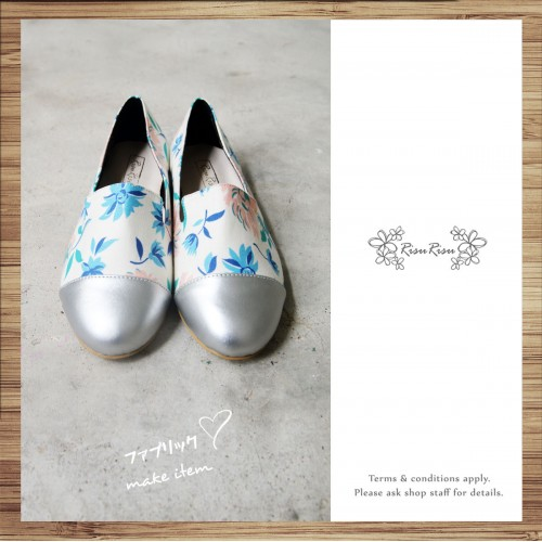Separate flat pumps / Handmade / ファブリック Fabric / RS5067A