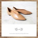 Tip / Leather / Flat Shoes / Beige / RS5087B