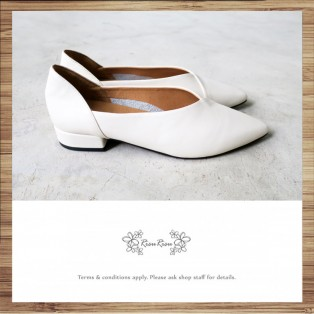 Tip / Leather / Flat Shoes / White / RS5087A