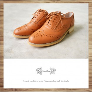 Bally Olive Carved Oxford Shoes / Elegant and Beautiful / Classic / Toffee / RS5533A