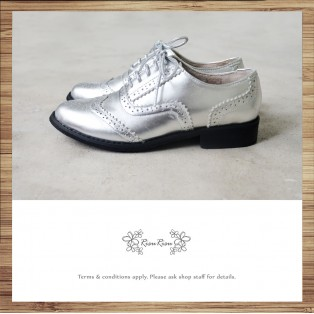 Bally Olive Carved Oxford Shoes / Elegant and Beautiful / Classic / Silver / RS5533B