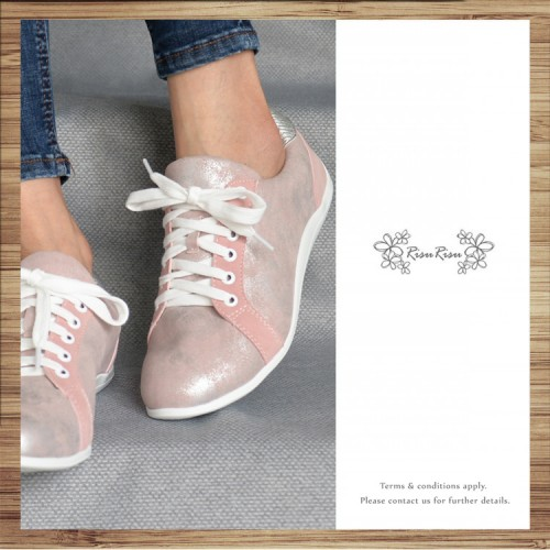 Light Pink Beam / Lace up trainers / Insole With Soft Cushions  / Sports Shoes / RS5802A