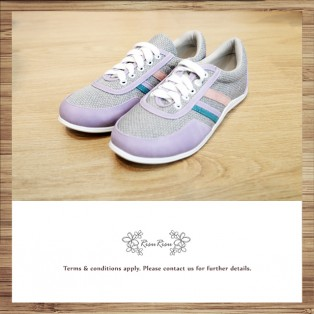 Purple with grey / Sneaker collection / Lace up trainers / Insole With Soft Cushions  / Sports Shoes / RS5805A