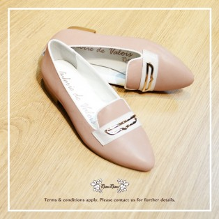 Valois Loafer / Perfect pseudo-slim feet / Honey light wax two-tone flat shoes / Full Leather / RS5855B