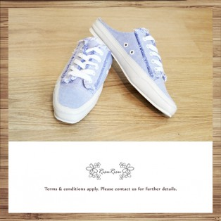 Mule canvas shoes / Light purple  / Lace up / Insole With Soft Cushions  / With scatter ends / RS5920B