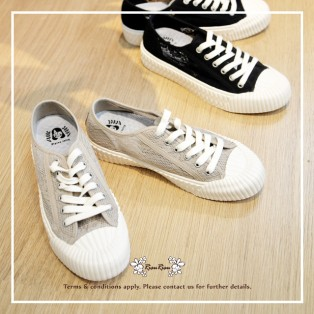 Fashion canvas sneaker / Mesh knitted upper / Low cut lace up / Insole With Soft Cushions / Beige / RS5922A