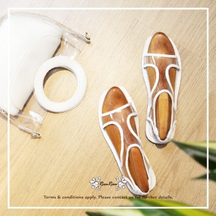Transparent Sandals / Refreshing / White / Fashion Sense & Delicate / Open Toe / RS5933A