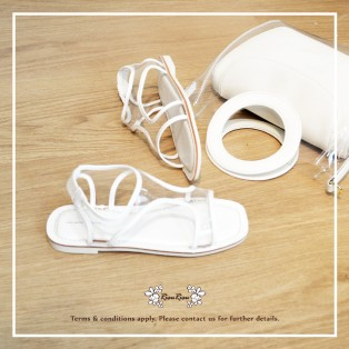 **ONE SET SPECIAL DISCOUNT** / Multi Layers LeatherBag+Hollow Transparent Sandals / RB10227+RS5933