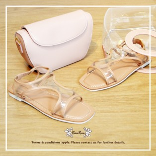 Transparent Sandals / Refreshing / Pink / Fashion Sense & Delicate / Open Toe / RS5933B