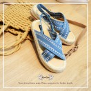 Cross Straps Sandals / Refreshing / Blue / Easy To Match / Fashion Sense & Delicate / Open Toe / RS5979B