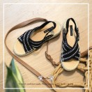 Cross Straps Sandals / Refreshing / Black / Easy To Match / Fashion Sense & Delicate / Open Toe / RS5979C