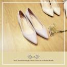 Natural Light Purple /  Sheepskin Low Heels / Handmade / Full leather / RS5983B