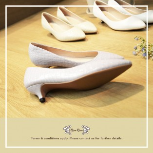Natural Light Purple /  Sheepskin Low Heels / Handmade / Full leather / RS5983B