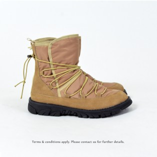 Elastic structure snow boots | Lace up | Non-slip | Fashion | Beige | RS6002B