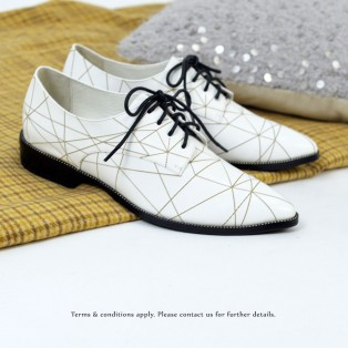 Striatum loafer | Handmade | White Leather | RS6020B