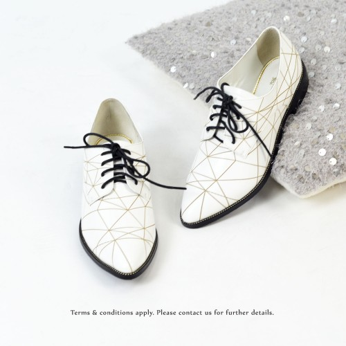 Striatum loafer | Handmade | White Leather | RS6020B