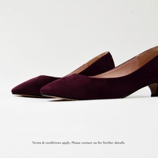 Purple Low heels / Handmade /  Pointed Shoes  / RS6025B