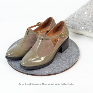 T-strap styles   Banded bandage basket empty structure minimalist   Leather shoes   RS6085B