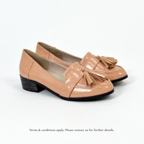★ NEW ★  Risurisu | Enamel upper | Handmade | Block Heels | Pale Pink | RS6302C